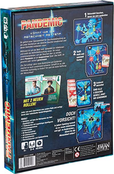 ZMan 691100 - Pandemic, Juego de mesa: Amazon.es: Juguetes y juegos