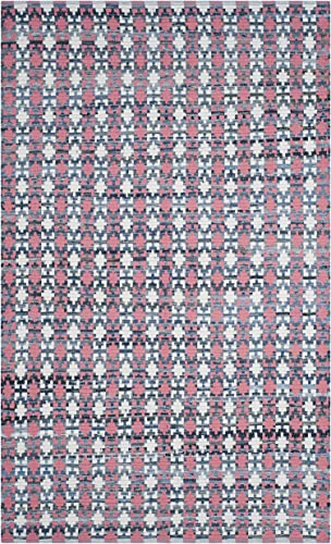 Safavieh Montauk Collection MTK123D Handmade Flatweave Coral and Multi Cotton Area Rug 6 x 9