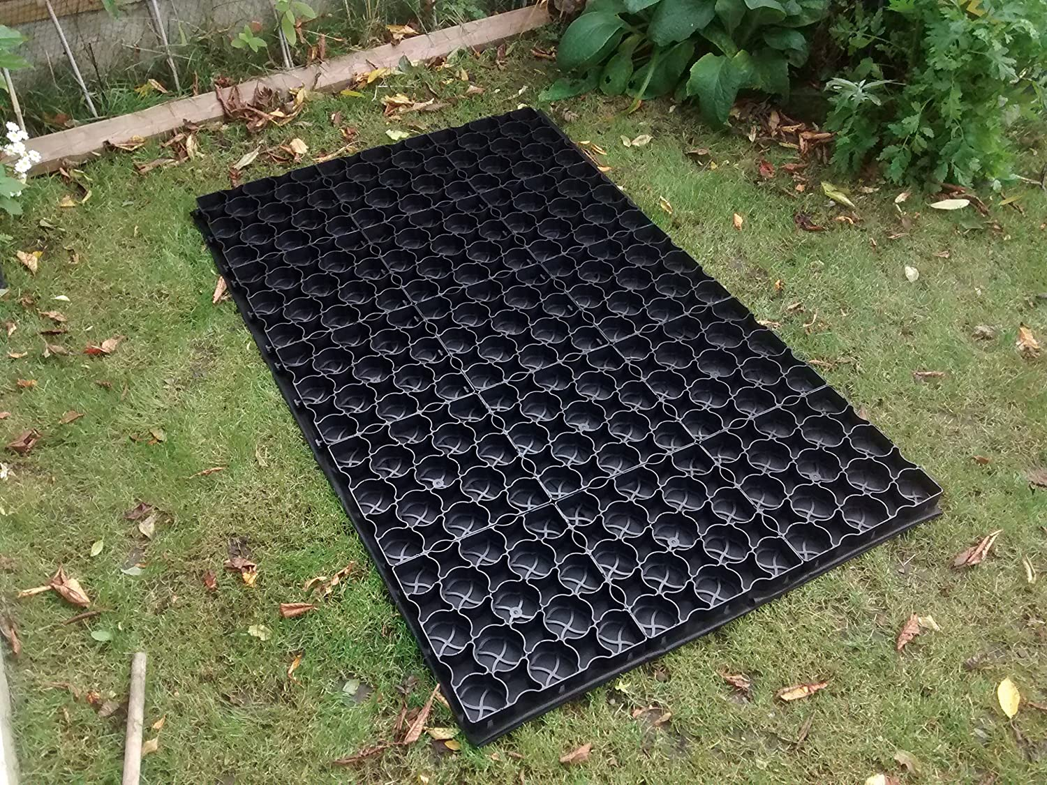 ECO PAVER SHED BASE 5ft x 3ft INCLUDING Weed Control Fabric & Pins NNJ Netting Supplies Ltd