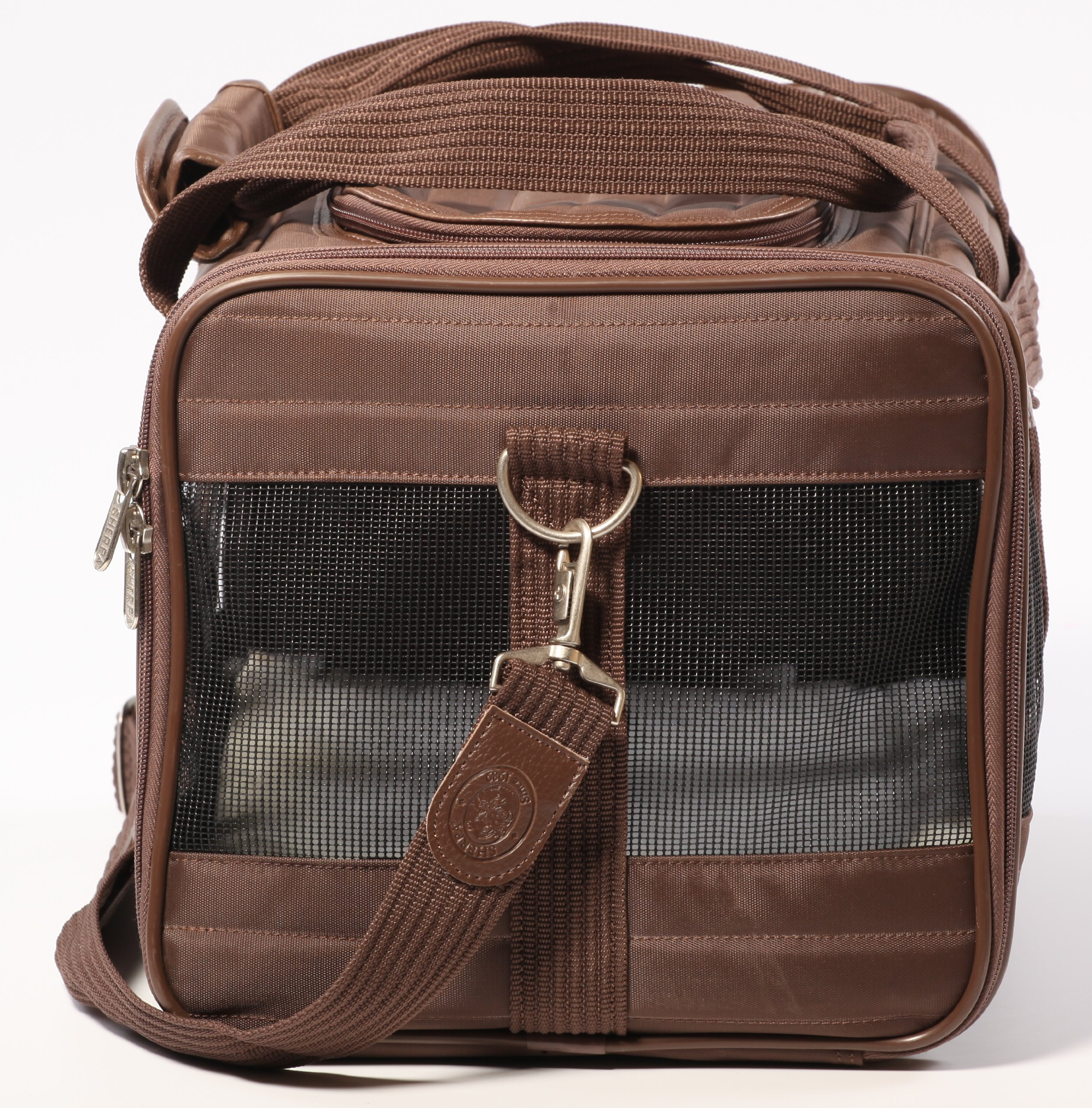 Sherpa Travel Original Deluxe Airline Approved Pet Carrier Small, Brown by Sherpa (Image #3)