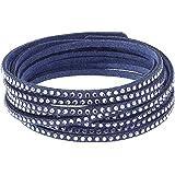 More to Adore Damen - Armbänder & Armreifen Leder Rundschliff Violett  5045801_Twisted Glamour