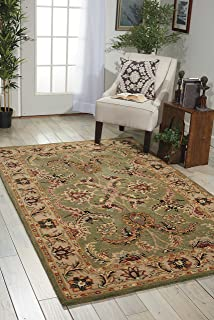 Nourison India House IH18 Green Rectangle Area Rug 5 Feet By 8