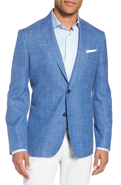 [モンテロッソ] メンズ ジャケットブルゾン Monte Rosso Trim Fit Wool Blend Blazer [並行輸入品] B07DW7P9LD  38 Regular