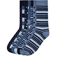 FIND Calcetines de Estampados Variados para Hombre, Pack de 7