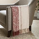 Amazon Brand – Stone & Beam Modern Throw Blanket - 50 x 60 Inch, Pink