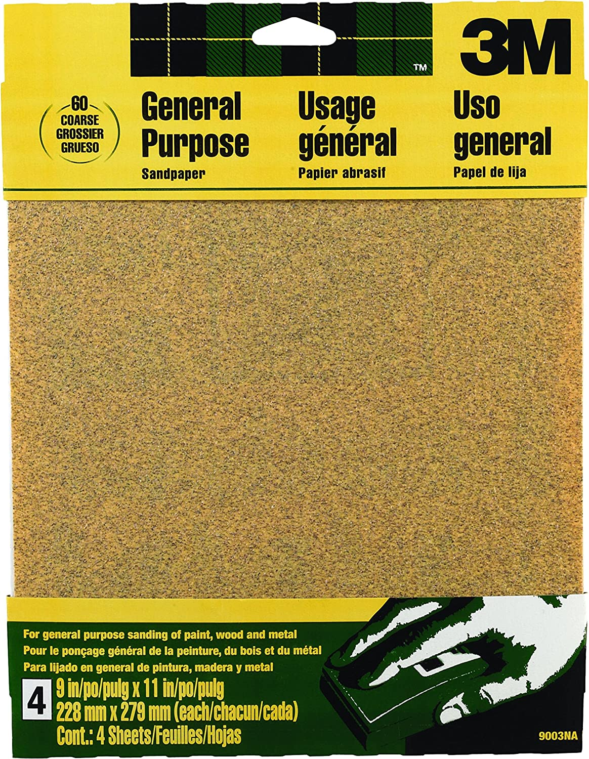 3M Aluminum Oxide Sandpaper, Coarse, 9-Inch by 11-Inch A1doY87zB1L