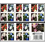 Flowers from The Garden Book of 20 USPS First Class Postage Stamps American Celebrate Beauty