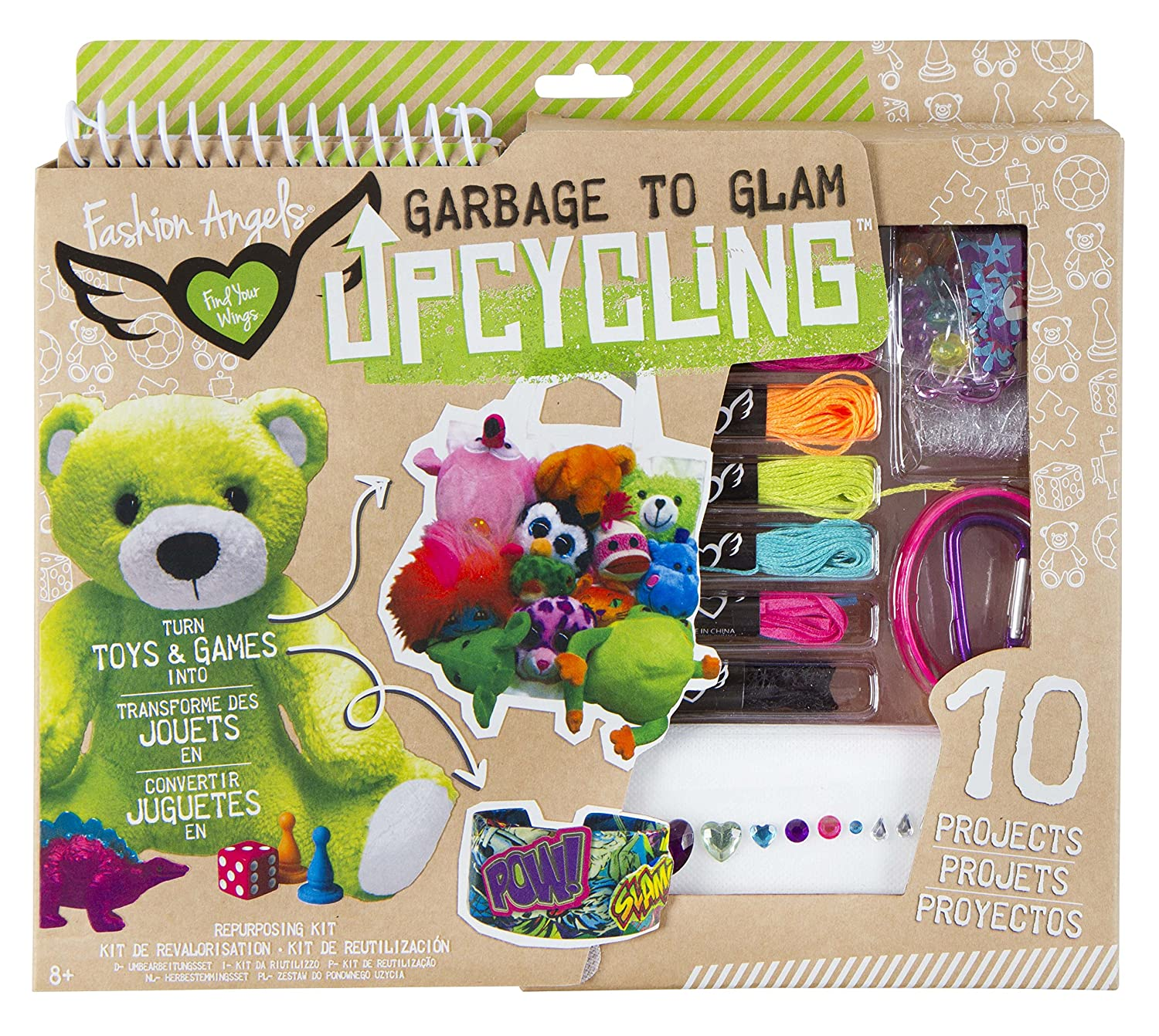Toys /& Games Fashion Angels Enterprises 11922 Fashion Angels Upcycling Design Kit