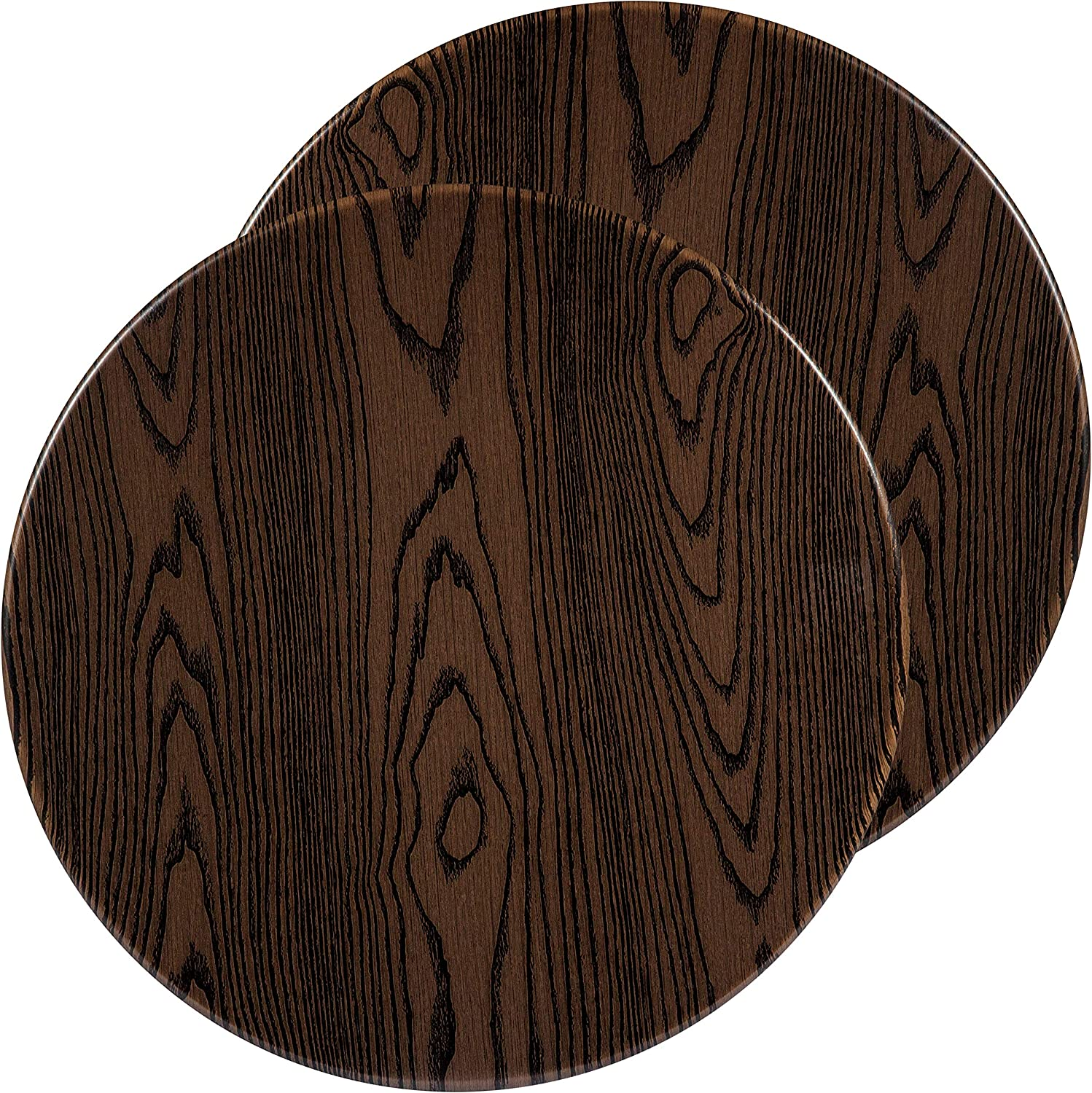 "Flash Furniture 2 Pk. 24"" Round Rustic Wood Laminate Table Top"