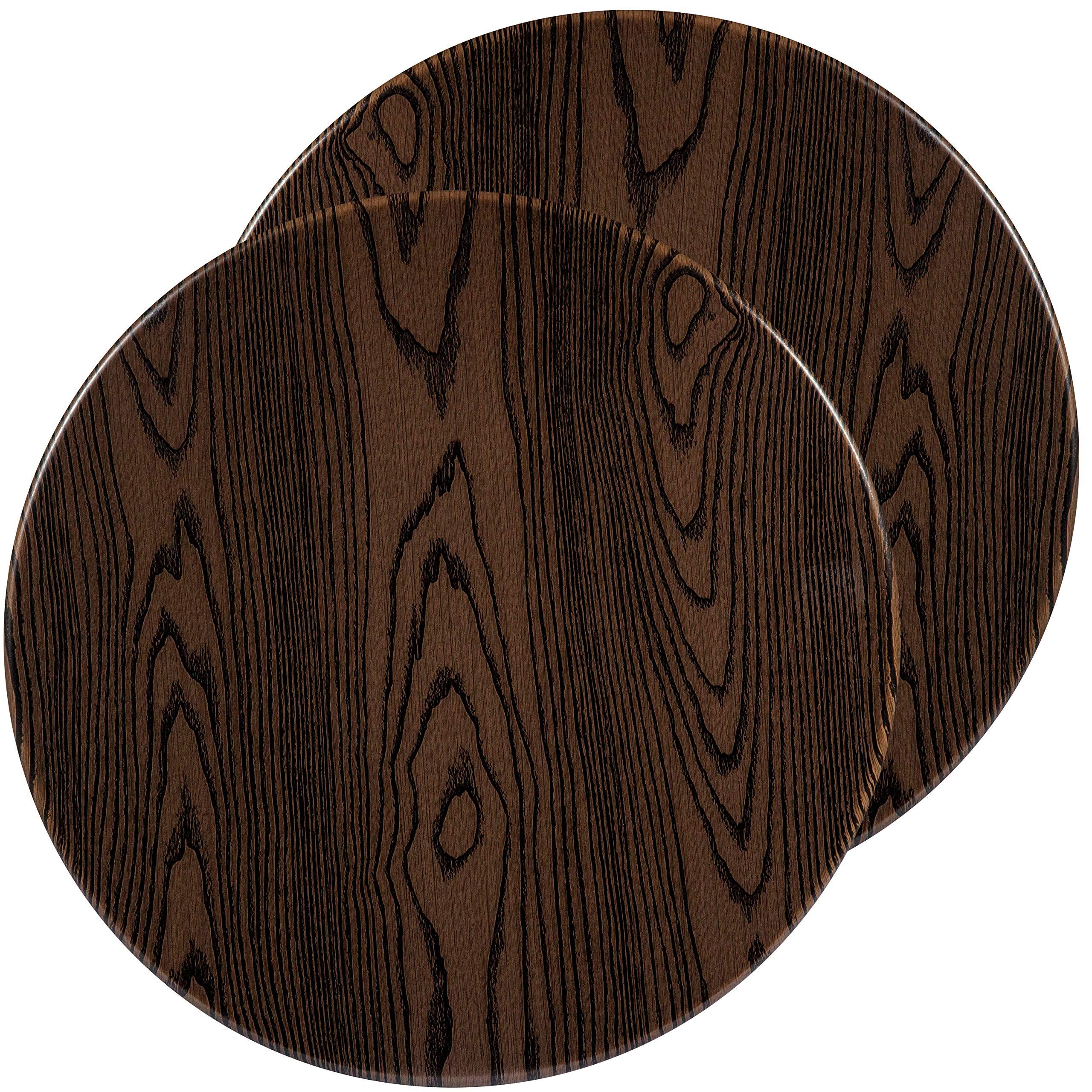 Flash Furniture 2 Pk. 24'' Round Rustic Wood Laminate Table Top