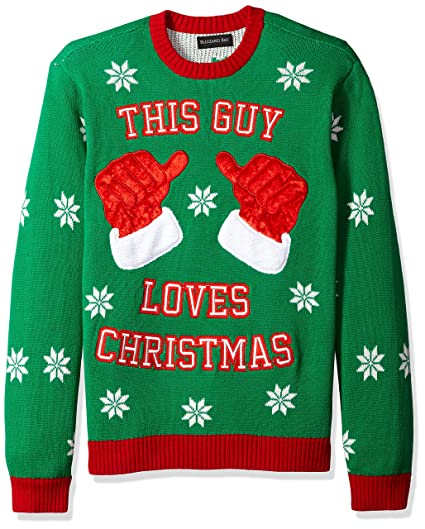 Blizzard Bay Mens This Guy Loves Xmas Ugly Christmas Sweater At