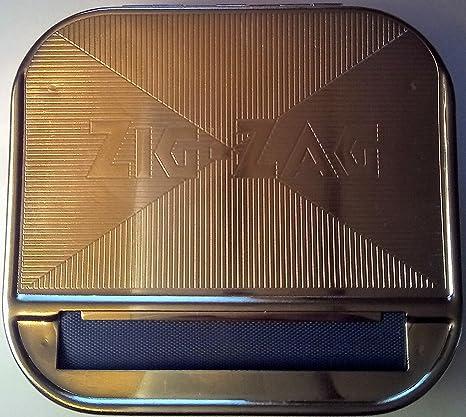 OCB Máquina para liar cigarrillos 16925 Zig Zag Rolling para unos cigarrillos, cromo, plateado