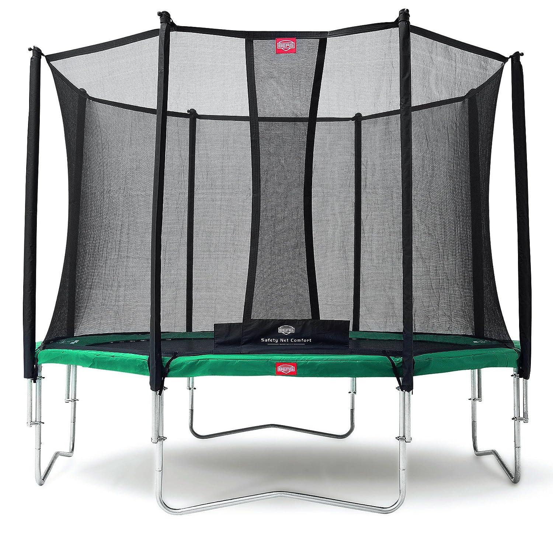 Berg® Trampolin Favorit mit Sicherheitsnetz Comfort, ø 3,80 m, Randbezug Grau