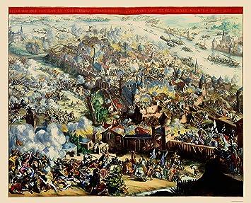 Amazon.com: Old Mapa de Europa Oriental – Belgrado Siege ...