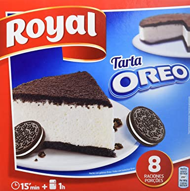 Royal - Tarta Oreo - No Horno, 215 g - [Pack de 7]