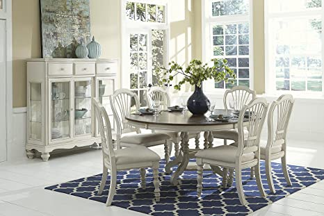 Surprising Hillsdale Furniture 7 Pc Round Dining Set In Old White Ocoug Best Dining Table And Chair Ideas Images Ocougorg