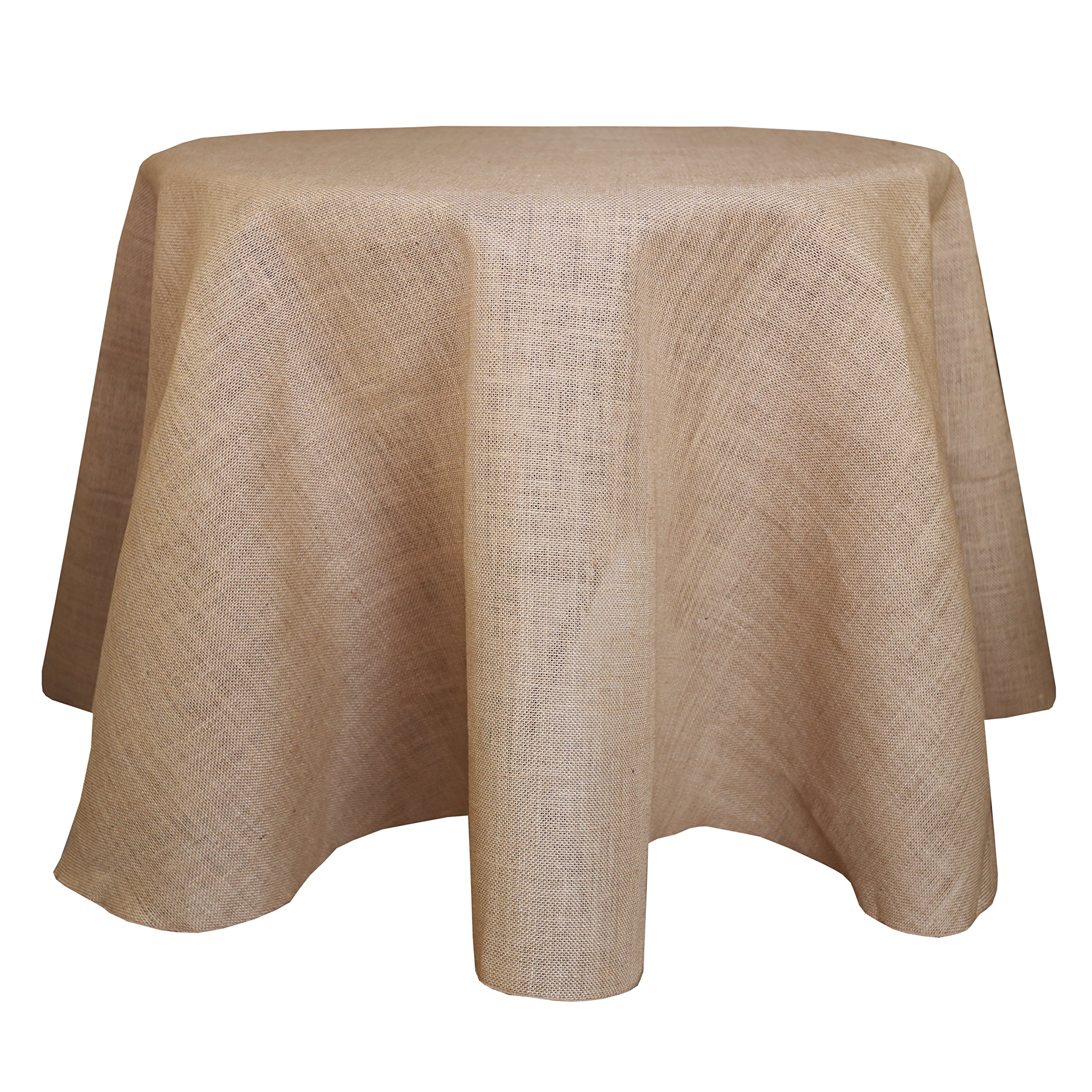 Ultimate Textile (3 Pack) Burlap 114-Inch Round Jute Tablecloth Natural