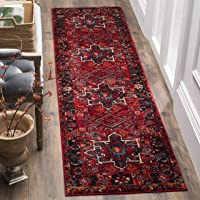 Overstock.com deals on Safavieh Vintage Hamadan Jasmin Traditional Red 2.3-inx14-ft