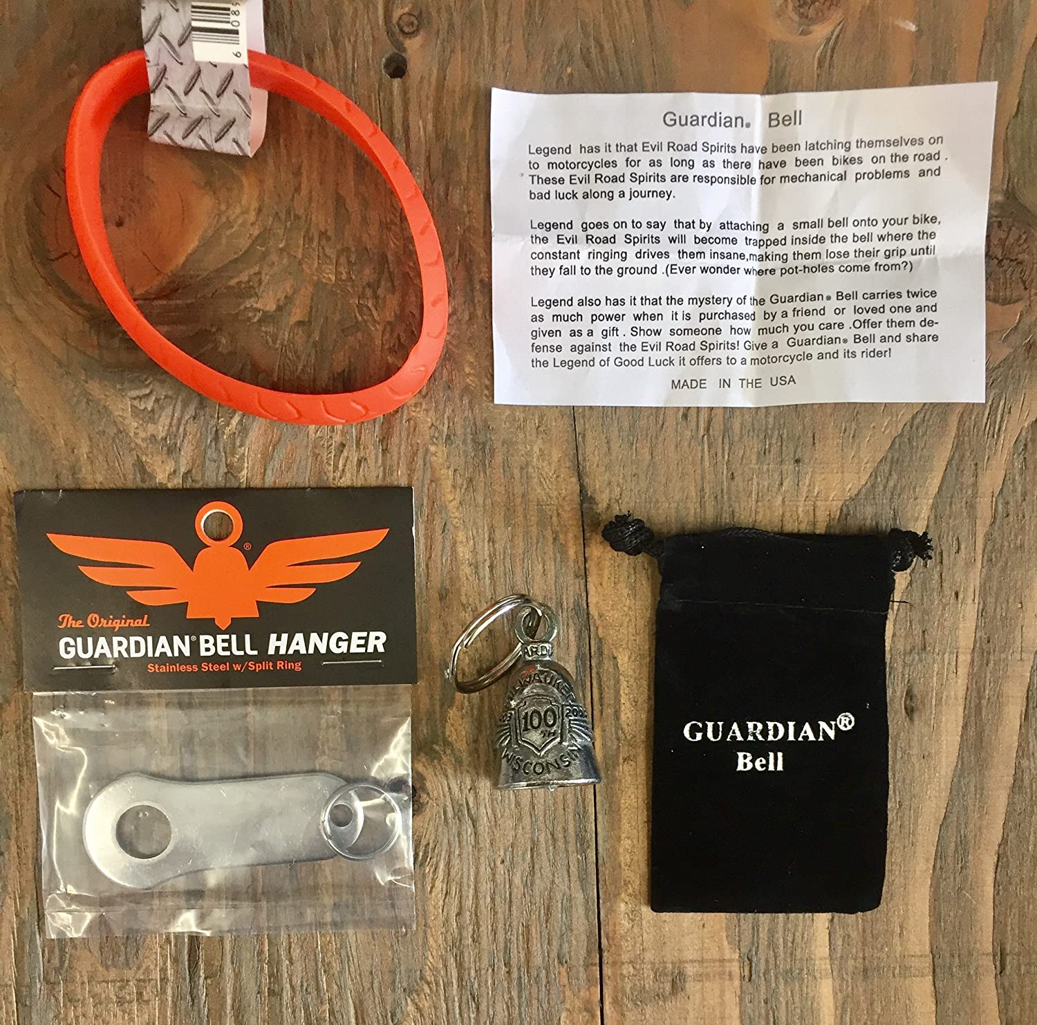 Guardian Bell ST CHRISTOPHER COMPLETE MOTORCYCLE KIT W//HANGER /& WRISTBAND