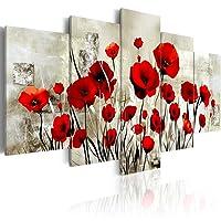 murando - Quadro 200x100 cm - 5 Parti - Quadro su tela fliselina - Stampa in qualita fotografica - Fiori papavero b-A-0001-b-o