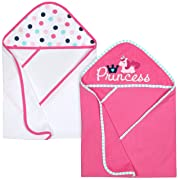 Gerber 2-Piece Hooded Bath Towel, Princess, 26 x 30