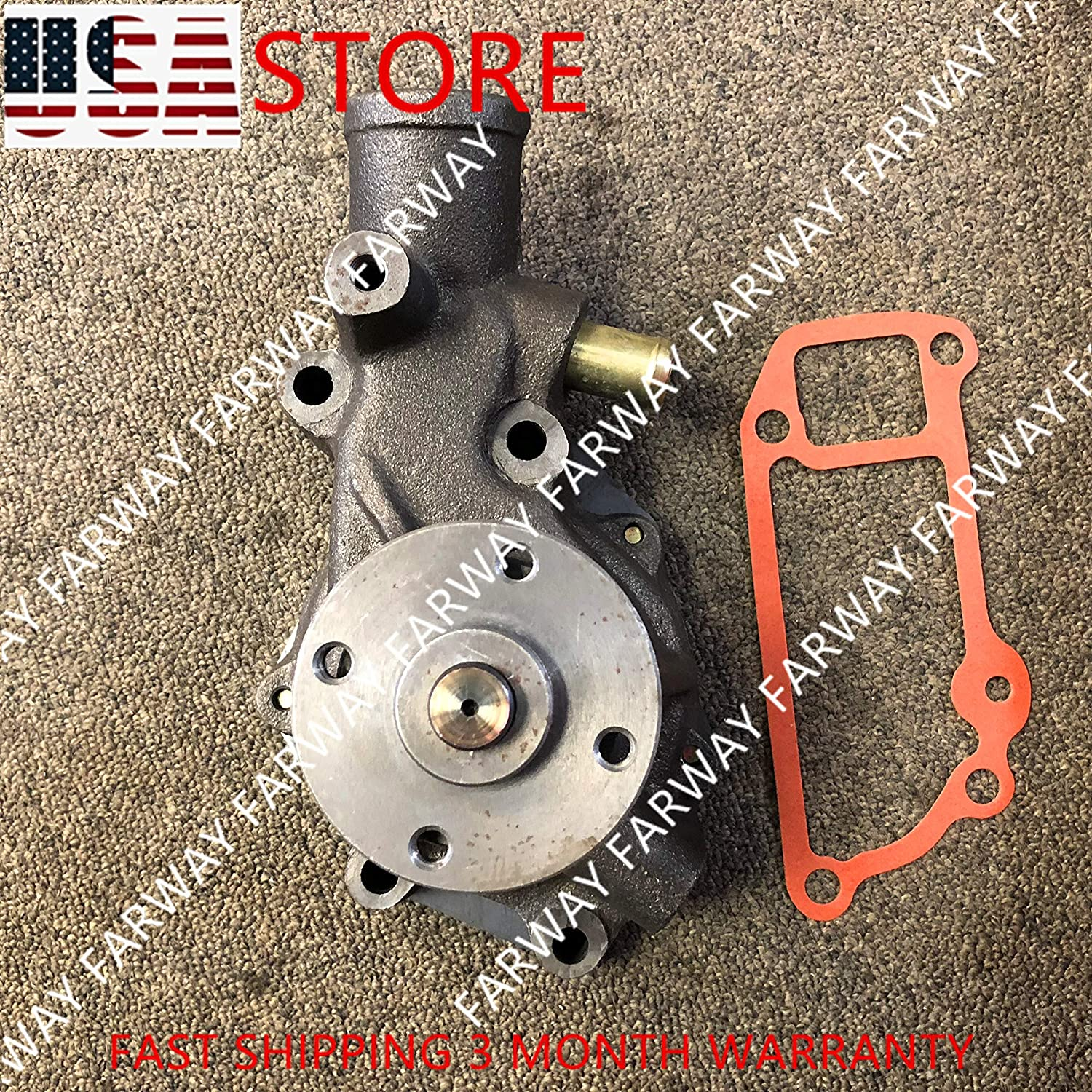 Water pump for Hitachi Excavator 8972511841 w// ISUZU Engine 4BD1 8906-6201 EX100