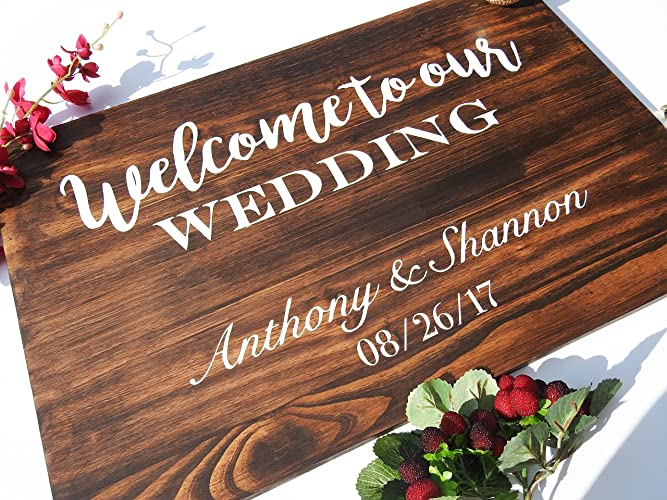 Wooden Wedding Signs.Amazon Com Wedding Welcome Sign Wooden Wedding Signs