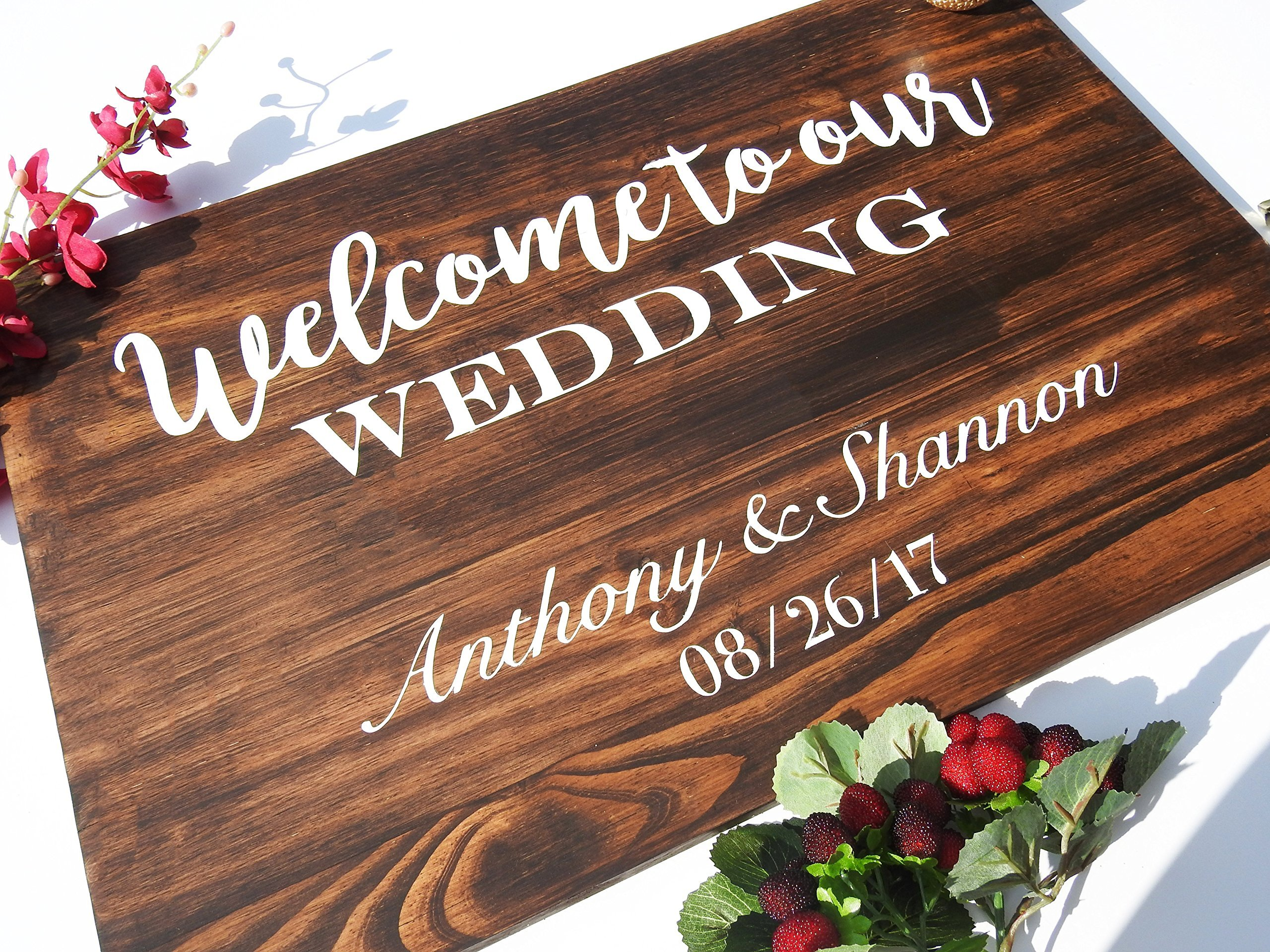 Wedding Welcome Sign - Wooden Wedding Signs - Wood .sign#134