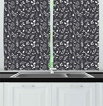 Black White Kitchen Curtains 2 Amazing Ideas