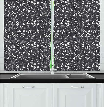 Black White Kitchen Curtains 2 Amazing Ideas
