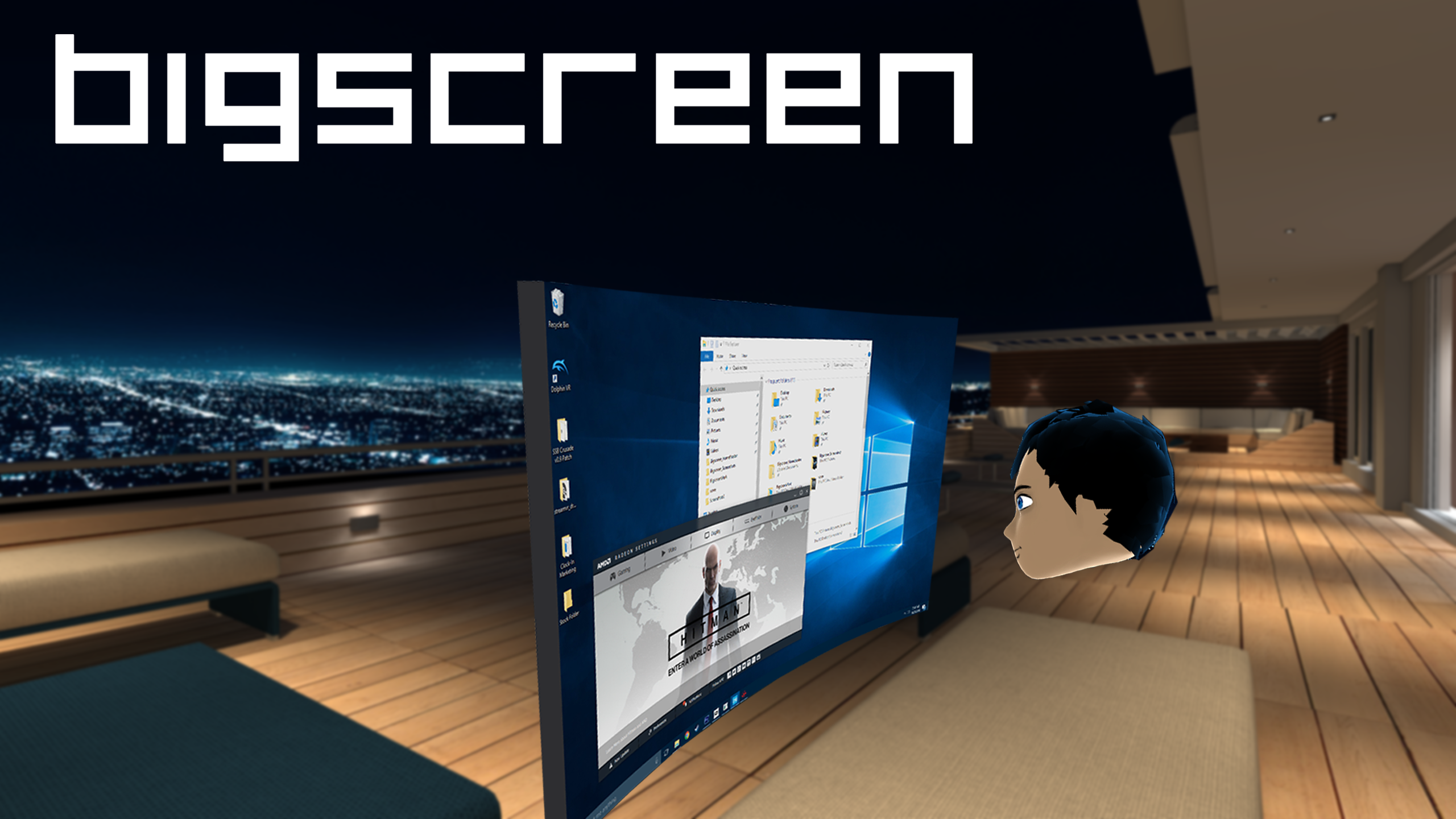Amazon com: Bigscreen - SteamVR [Online Game Code]: Video Games