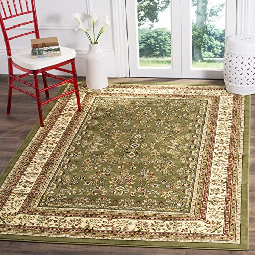 Safavieh Lyndhurst Collection LNH331C Traditional Oriental Sage and Ivory Area Rug 8' x 11'