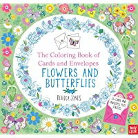 The Coloring Book of Cards and Envelopes: Flowers