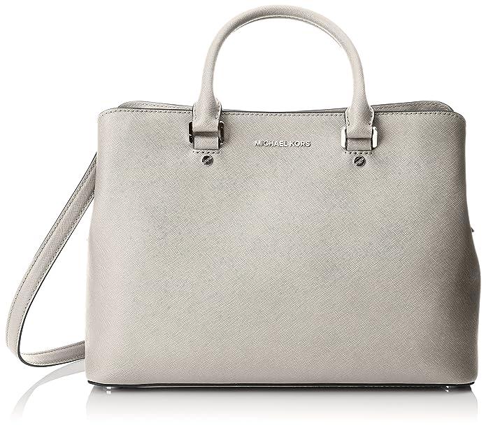 783f28c2ff6c MICHAEL Michael Kors Women's Savannah Large Satchel, Cement, One Size:  Handbags: Amazon.com