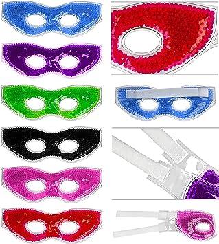 Fresco gafas para los ojos con gel de colores de perlas y cierre ...