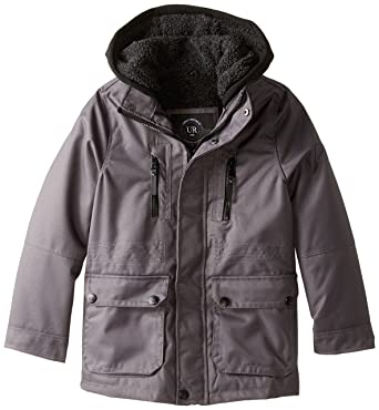 Amazon.com: Urban Republic Big Boys' Ballistic Coat With Faux Fur ...