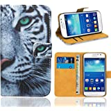 fbdfc8dc308 Samsung Galaxy Grand Neo Case, FoneExpert® Premium Leather Flip Wallet Book  Case Cover For