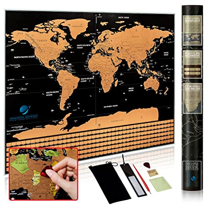 Amazon scratch off world map poster deluxe quality travel map scratch off world map poster deluxe quality travel map with flags countries states gumiabroncs Gallery