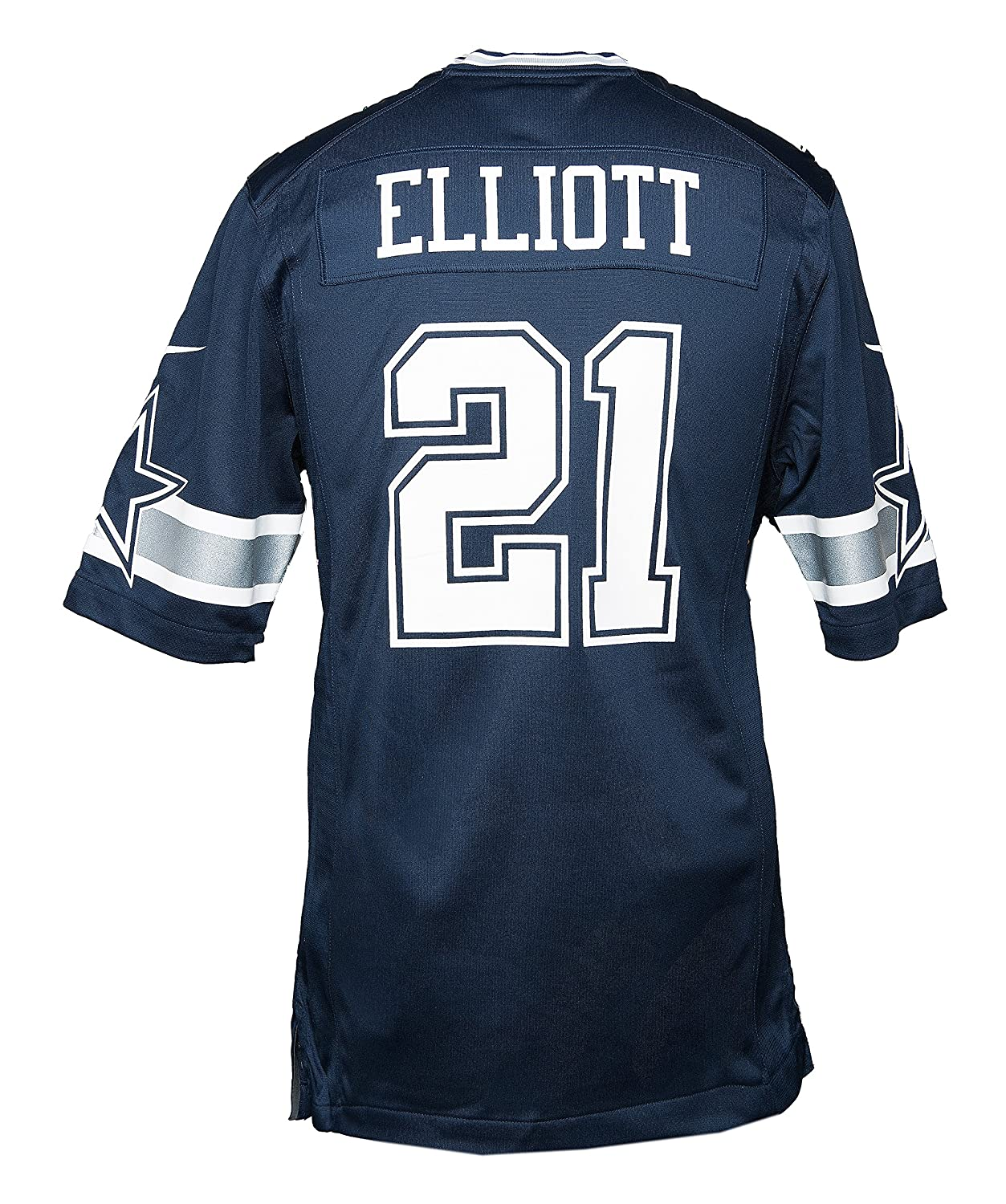 596acf7f57c Amazon.com : Dallas Cowboys Ezekiel Elliott Nike Navy Game Replica Jersey :  Clothing
