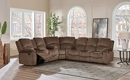 Global Furniture USA U3118C-SUBARU Coffee-SECTIONAL Sofa/Loveseat Brown