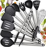 Home Hero 11 Silicone Cooking Utensils Kitchen Utensil Set - Stainless Steel Silicone Kitchen Utensils Set - Silicone…