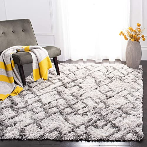 Safavieh Horizon Shag Collection HZN894F Modern Contemporary Abstract Area Rug