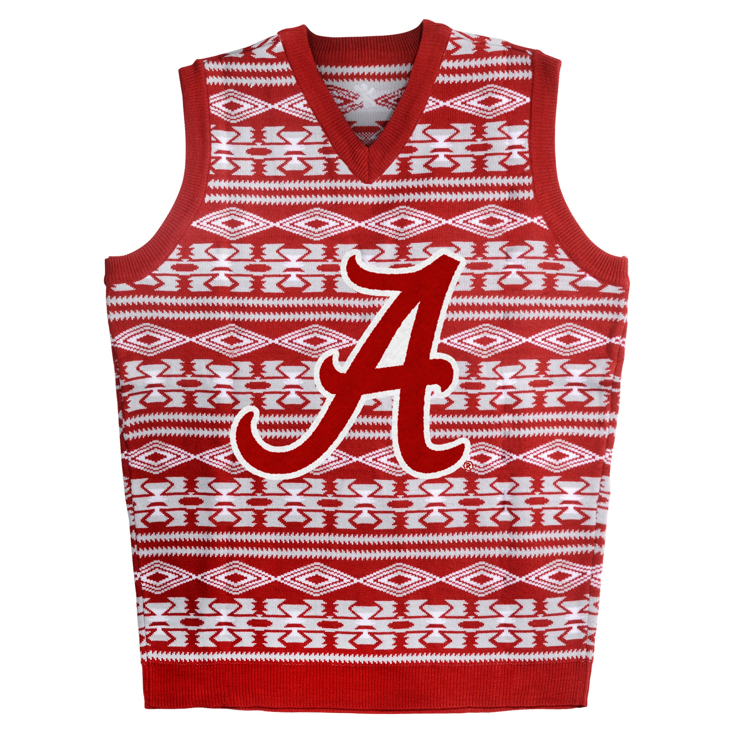 Forever Collectibles KLEW NCAA Alabama Crimson Tide Ugly Sweater Vest, Small, Red