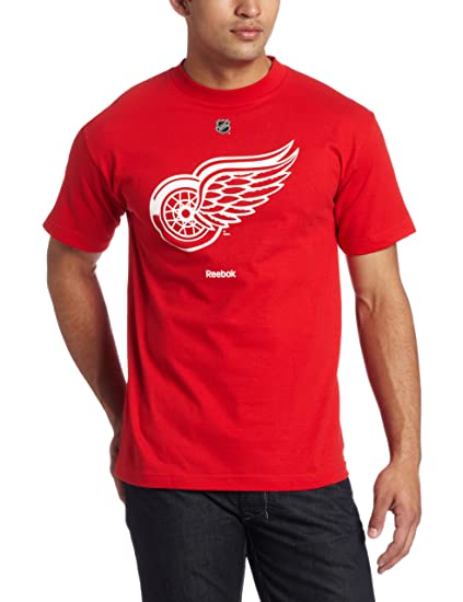 98c2563b7ea Amazon.com   NHL Detroit Red Wings Primary Logo T-Shirt Men's   Sports  Related Merchandise   Clothing