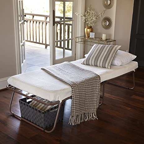 zinus sleep master traveler deluxe folding memory foam guest bed plus bonus storage bag