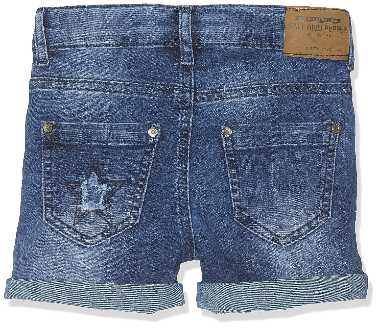 Salt /& Pepper Jeans Short Blue Girls Bambina