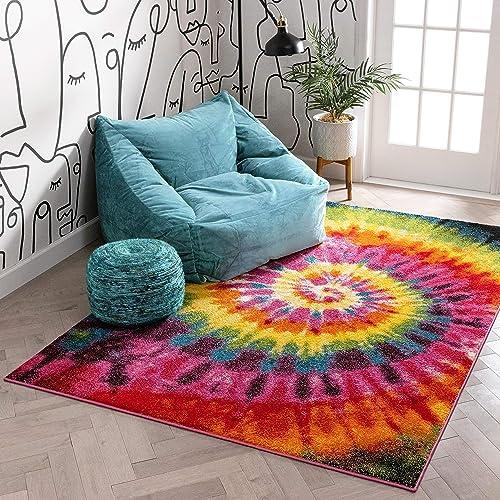 Well Woven Viva Woodstock Modern Boho Swirls Multi Bright Area Rug 7'10″ x 9'10″