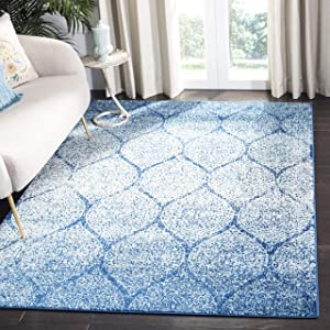 Safavieh Madison Collection MAD604N Glam Ogee Trellis Distressed Non-Shedding Stain Resistant Living Room Bedroom Area Rug, 6'7