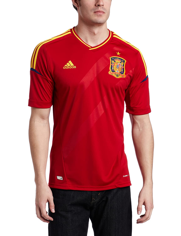 Amazon.com : adidas Spain Home Soccer Jersey : Sports Fan Jerseys : Clothing
