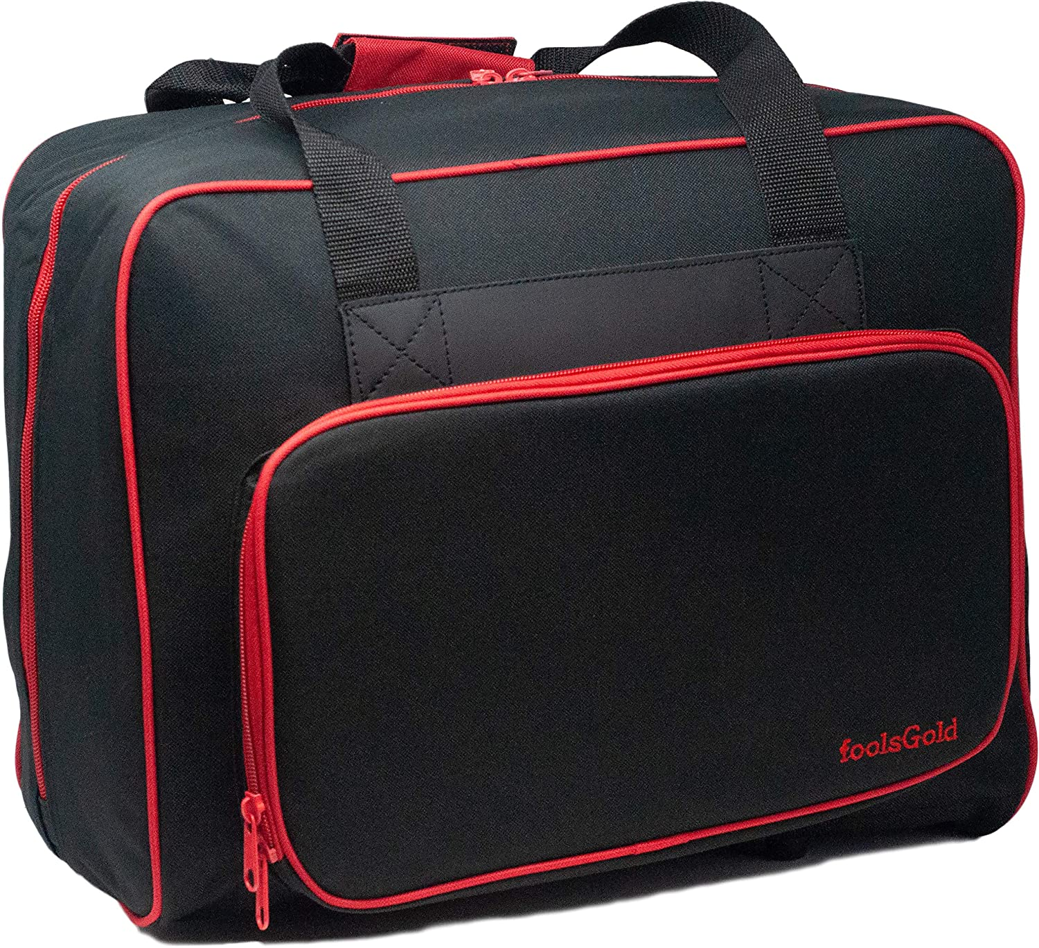 foolsGold Pro Thick Padded Sewing Machine Bag Carry Case Black//Grey